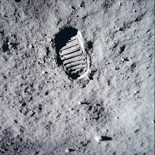 American Flag On The Moon One Small Step U0027 First Footprint On The Moon By Neil Armstrong