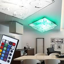 farbwechsel led deckenlampe aus chrom mit spiegelglas lampen
