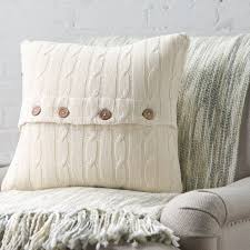 three posts harrietstown cable knit 100 cotton throw pillow