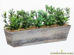 Window Boxes Planters by Artificial Boxwood Bushes For Window Box Planters