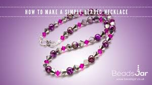 making necklace beads images How to make a simple beaded necklace swarovski jpg