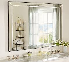 unusual design ideas beveled bathroom vanity mirror silver leaf