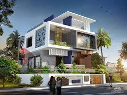 Interior And Exterior Home Design Front Exterior Design Of Indian Bungalow 3d Modern And Villa Plan