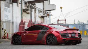 audi r8 wrapped dub magazine liberty walk audi r8 on forgiatos