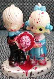 Precious Moments Centerpieces by Items Similar To Precious Moments Halloween Repaint Zombie Dinner