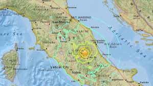 San Marino Italy Map by Trio Of Earthquakes Strike Central Italy Itv News