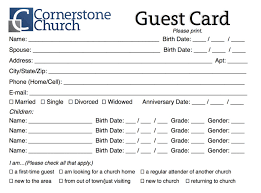 church visitor card template word 3 best u0026 professional templates
