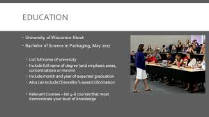 Resume Expected Graduation by Resume Writing Components Education University Of Wisconsin