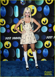 kat graham goes incognito as mike wazowski at the just jared