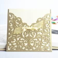gold lace ribbon wholesale lace ribbon bow knot wedding invitation card vintage