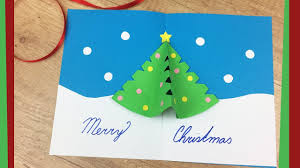 diy gift card with pop up tree easy to do with
