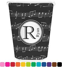 Bedroom Wastebasket Musical Notes Waste Basket Personalized Potty Training Concepts