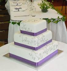 Purple And Silver Wedding Purple And Silver Wedding Cake Pinkous