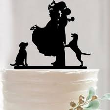 wedding cake topper with dog wedding cake topper anniversary cake decoration groom