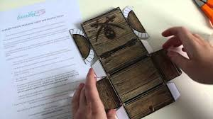 pirate treasure chest box tutorial youtube