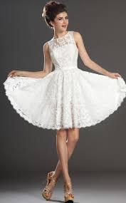 a line jewel neck short mini white lace bridesmaid dresses bd426
