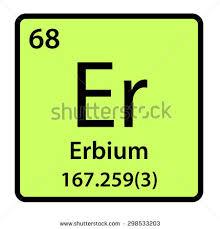 er element periodic table element erbium periodic table stock illustration 298533203