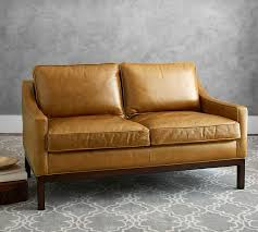 loveseat vs sofa dale leather loveseat pottery barn
