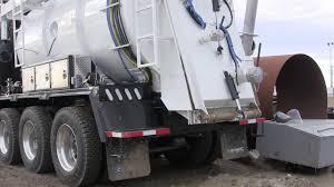hydro excavator emptying tank youtube