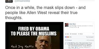 Islamic Meme - allen west s facebook page posts meme that supports exterminating
