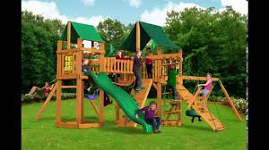 Wooden Swing Set Canopy by Furniture Wonderful Redwood Swing Set By Gorilla Playsets Plus