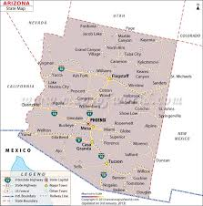 us map arizona state arizona on us map uptowncritters sedona maps and orientation