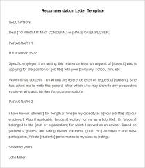 recommendation letter template business plan template