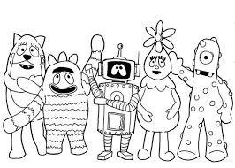 picture yo gabba gabba characters coloring picture yo