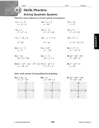 solving quadratic equations by graphing worksheet free worksheets
