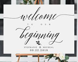 wedding welcome sign template navy welcome to our beginning wedding sign template welcome