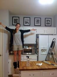 What To Do With The Space Above Your Kitchen Cabinets Fill The Annoying U0027above Cabinet U0027 Space In Your Kitchen W Black