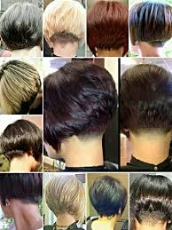 short stacked bob haircut shaved collage of nape options for short bob haircuts various sources