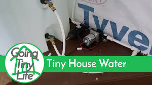 House Plumbing System Tiny House Build Off Grid Water System Youtube