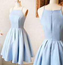 simple dresses simple spaghetti straps light blue prom dress cheap
