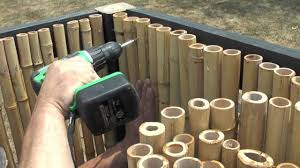 exterior how to install bamboo fencing with iron frame for home how to install bamboo fencing with iron frame for home exterior decorating ideas