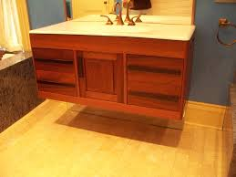mahogany floating vanity