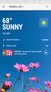 the weather channel app for android gets all new home screen and