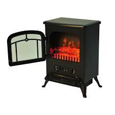 homcom 16 u201d 1500w free standing electric fireplace black aosom ca