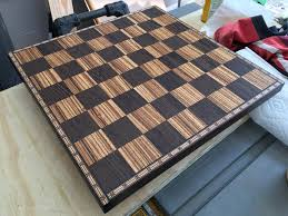cool chess boards made my dad a chess board for his birthday it u0027s zebra wood and