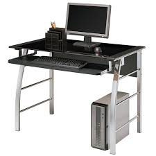 Realspace Shore Collection by Office Depot Black Glass Desk Best Home Furniture Decoration