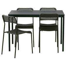 tärendö adde table and 4 chairs black 110 cm ikea