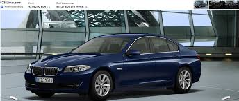 bmw 5 series 523i 2011 bmw 5 series german configurator now available on bmw de