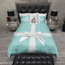 Personalized Comforter Set Name U0026 Co Personalized Bedding Tiffany Blue Box Duvet Bedding