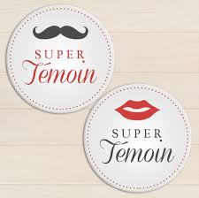temoin de mariage badge mariage témoin moustache my lovely badge