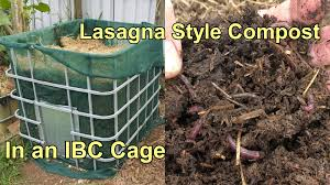 lasagna style compost chock full of worms yet again youtube