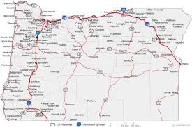 oregon map with cities free map of oregon map travel holidaymapq com