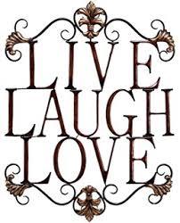 amazon com live love laugh set 3 wall mount metal wall word