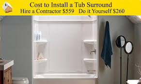 cost to install a tub surround youtube