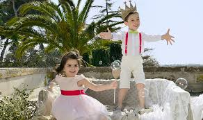 tenue enfant mariage vêtement de mariage pour enfants avec accessoires fuchsia dress