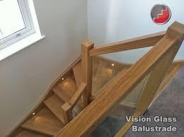 Glass Handrails For Stairs Oak Handrails Grooved For Glass Balustrade